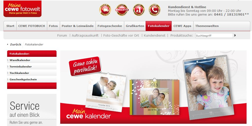 foto anbieter test der cewe fotokalender. Black Bedroom Furniture Sets. Home Design Ideas